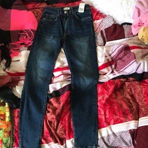 Skinny navy jeans